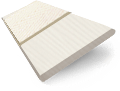 Ivory Lace & Vanilla Faux Wood Blind - 35mm Slat slat image