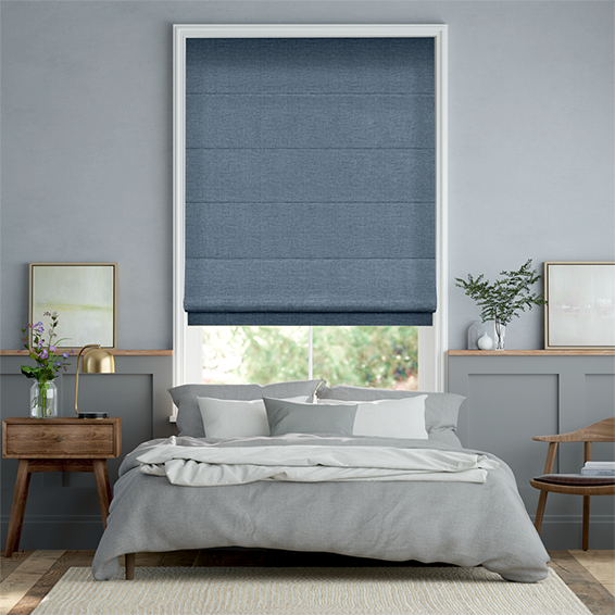 Liliana French Blue Roman Blind