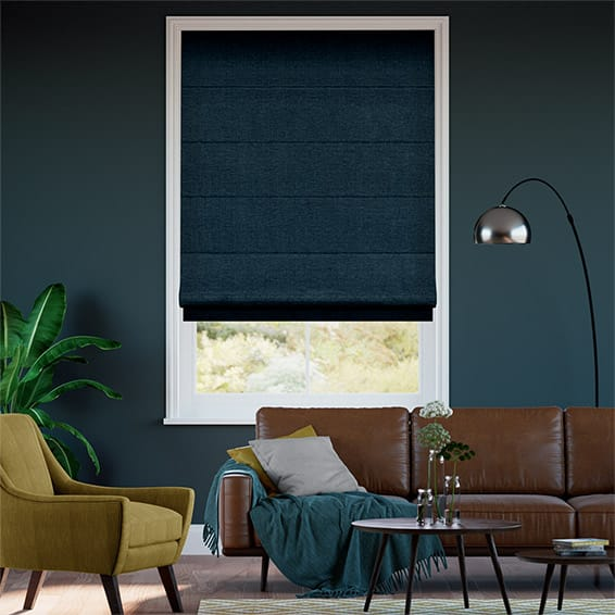 Liliana Navy Roman Blind