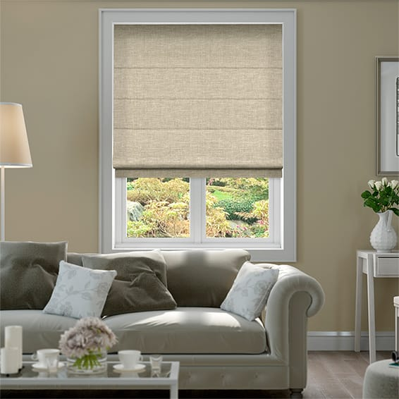 Liliana Oatmeal Roman Blind