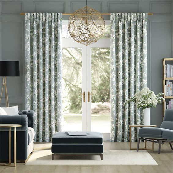 Madelyn Velvet Smoky Lime Curtains