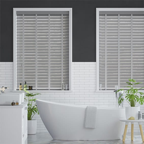Metropolitan Iron & Cool Grey Wooden Blind - 50mm Slat