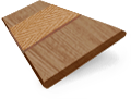 Metropolitan Maple & Nutmeg Wooden Blind - 50mm Slat slat image
