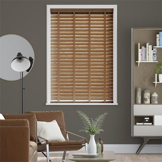 Metropolitan Maple & Nutmeg Wooden Blind - 50mm Slat