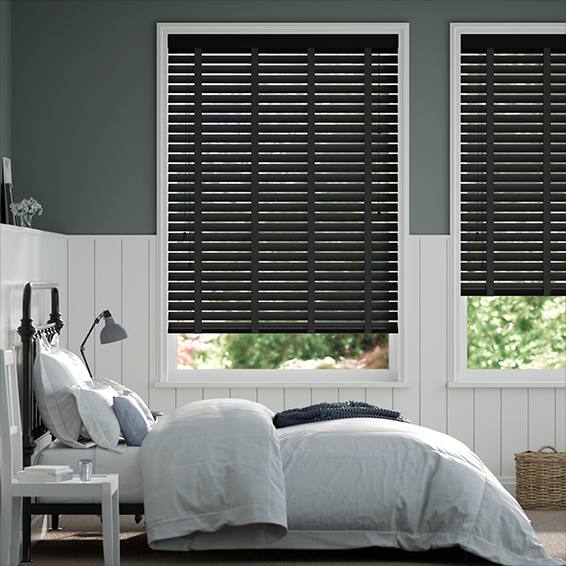 Metropolitan Midnight & Onyx Wooden Blind - 50mm Slat