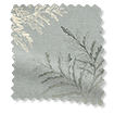 Moonlit Fern Faux Silk Platinum Curtains sample image