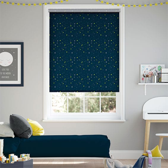 Night Sky Cosmic Blackout Blue Roller Blind