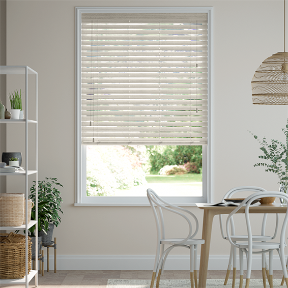 Nordic Oak Faux Wood Blind - 50mm Slat