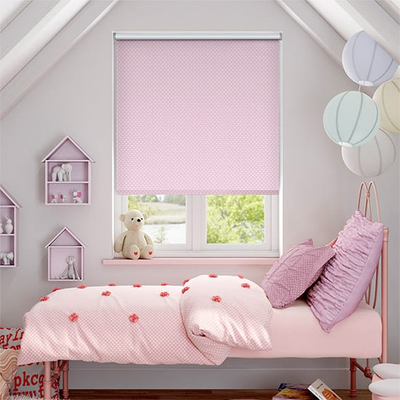 Party Polka Blackout Candyfloss Roller Blind