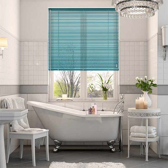 Premium Tropical Blue Venetian Blind - 25mm Slat