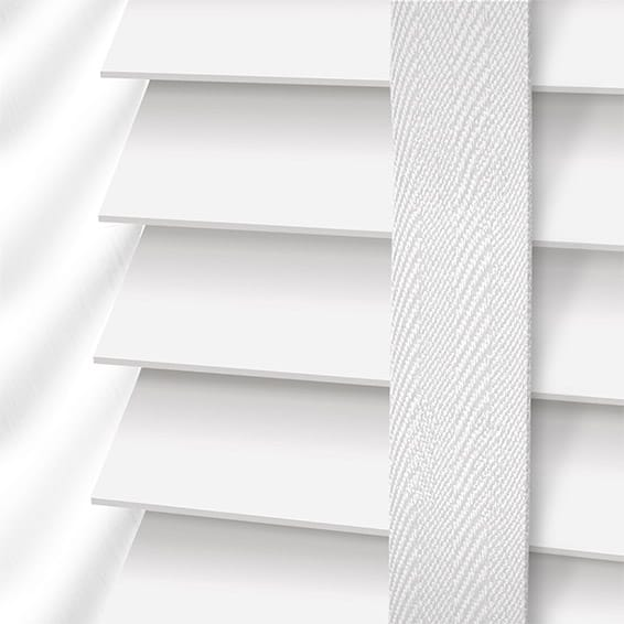 White Wooden Blinds With Tapes Fast Shipping Free Samples Shop Now