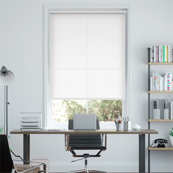 Valencia Simplicity White Roller Blind