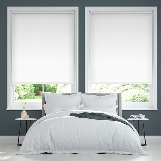 Sevilla Blackout Brilliant White Roller Blind