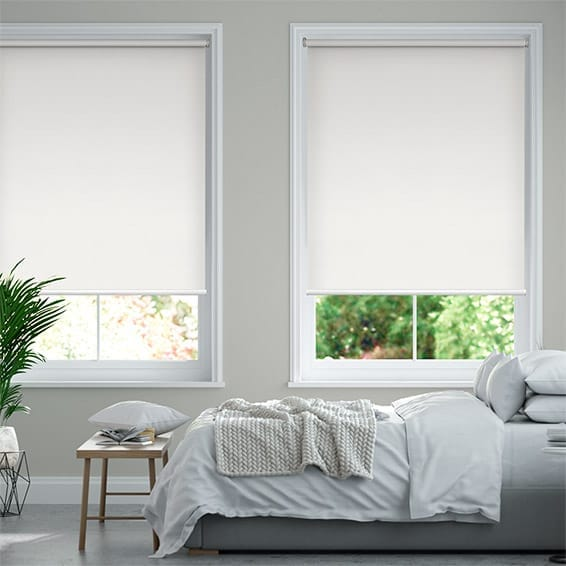 Santiago Blackout Snow White  Roller Blind