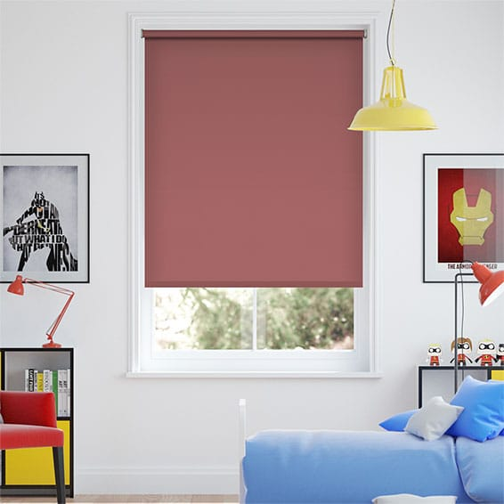 Santiago Blackout Habanero Red Roller Blind