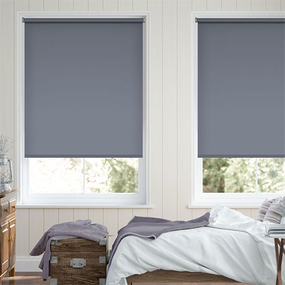 Santiago Blackout Violet Blue Roller Blind