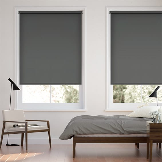 Sevilla Blackout Anchor Grey Roller Blind