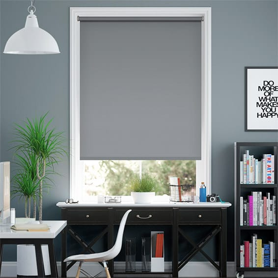 Sevilla Blackout Blue Grey Roller Blind