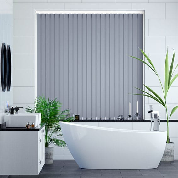 Sevilla Glacier Blue Vertical Blind