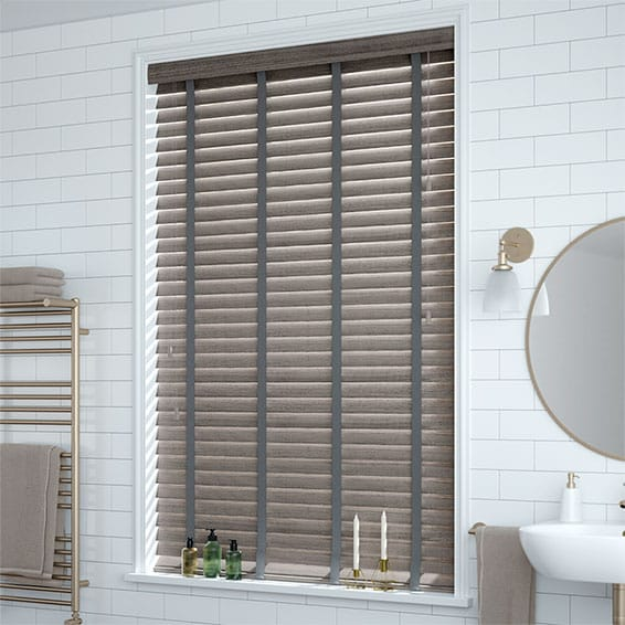 Grey Blinds Contemporary Faux Wood Blinds At Affordable