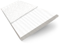 Snowdrift & Fresh White Faux Wooden Blind - 50mm Slat slat image