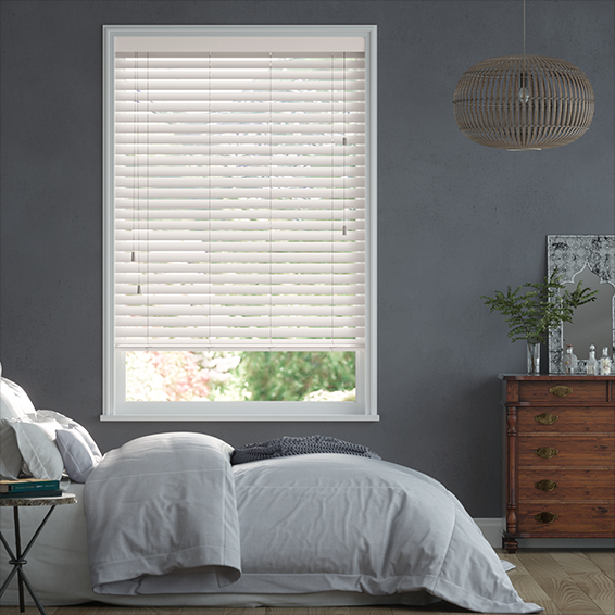 Soft White Wooden Blind  - 50mm Slat