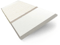 Soft White & Linen Wooden Blind - 50mm Slat slat image