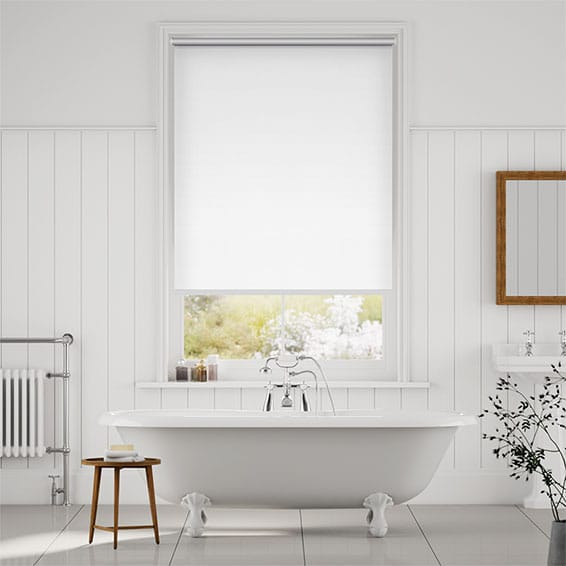 Chromium Thermal Blackout Satin White Energy Saving Roller Blind