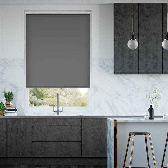 Chromium Thermal Blackout Slate Energy Saving Roller Blind