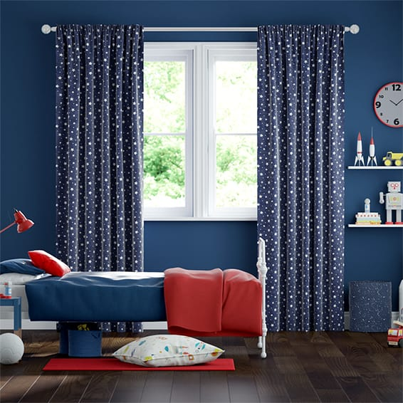 Starry Skies Blue Curtains