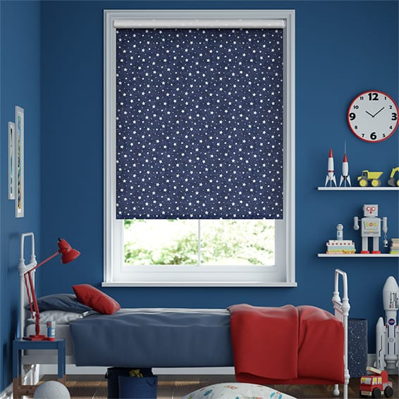Starry Skies Blue Roller Blind