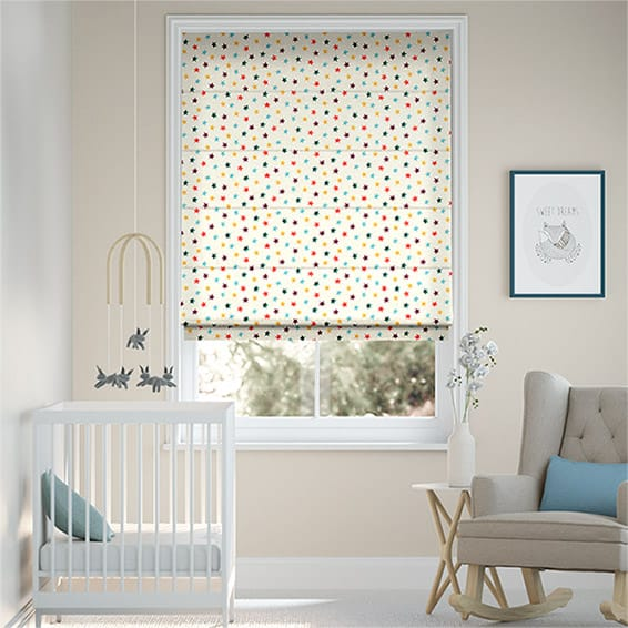 Starry Skies Multi Brights Roman Blind