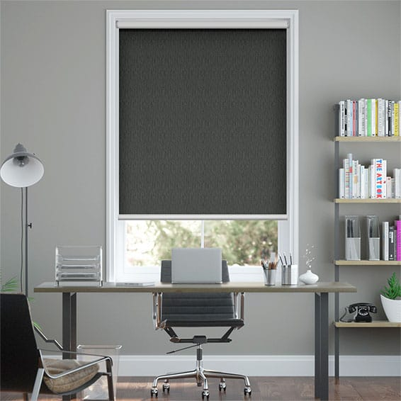 Static Blackout Slate Grey Roller Blind