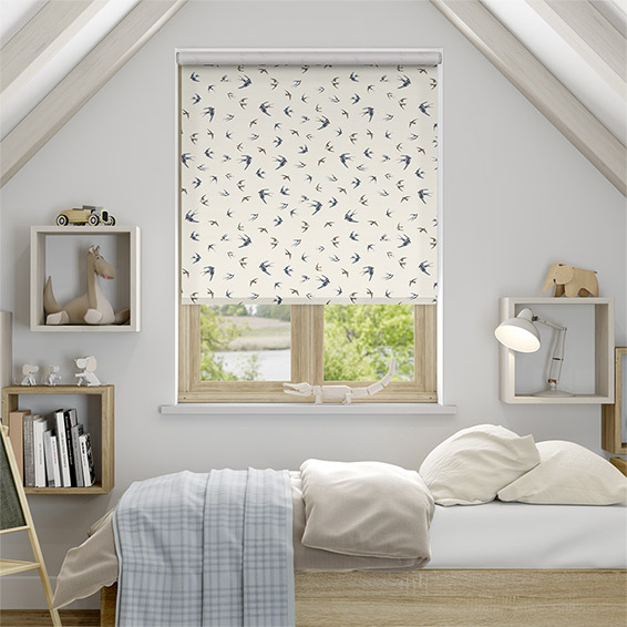 Swallows and Swifts Blue Roller Blind