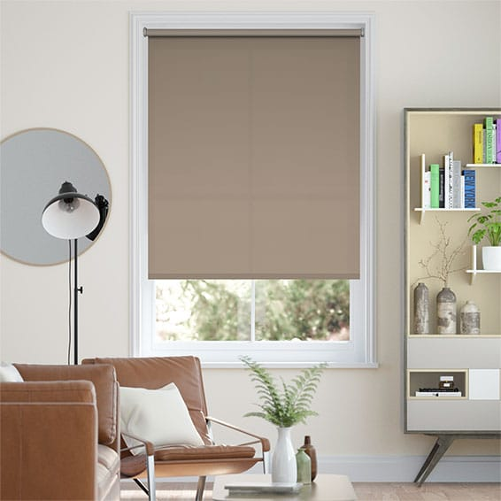 Valencia Grey Taupe Roller Blind