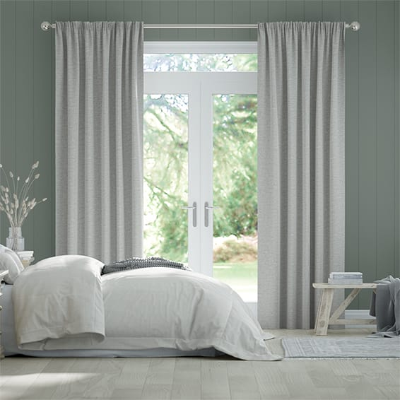 Plush Chenille Soft Grey Curtains