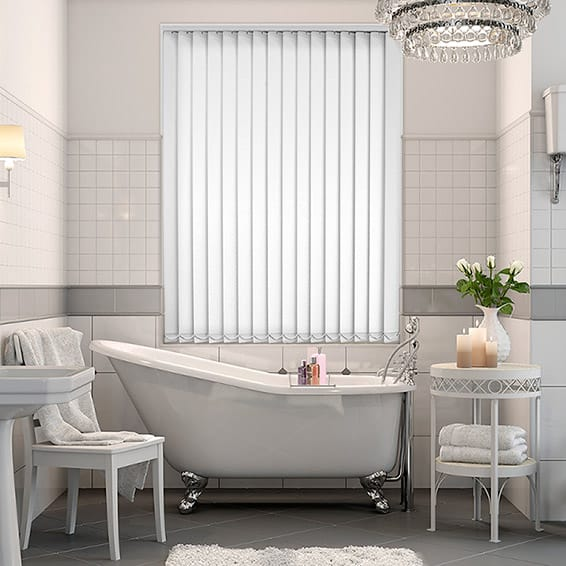White Pvc Blackout Vertical Blind