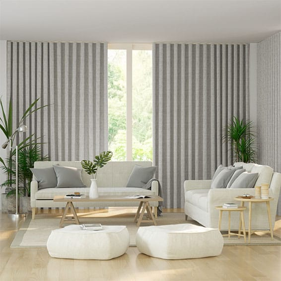 Wave Paleo Linen Smoke Curtains