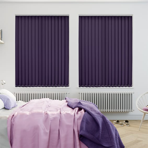 Welwyn Grape Purple Vertical Blind