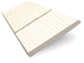 Cottage Cream & Canvas Faux Wood Blind - 50mm Slat slat image