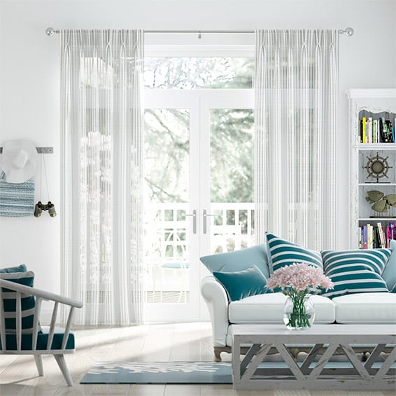 Zurich Voile Soft White Curtains